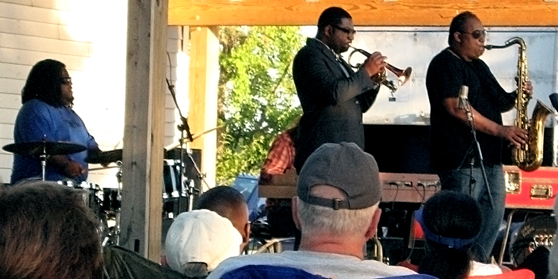 Dixon and his band play their smooth tunes at Eagle Creek Park.
