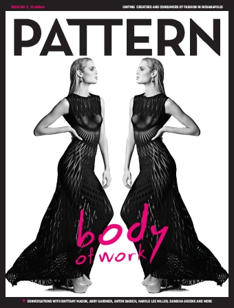 A dynamic cover of mirrored models on the latest issue of Pattern Paper.